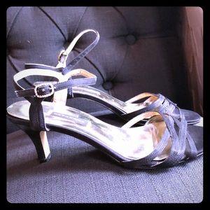 Caparros black heels rhinestones 7.5 evening